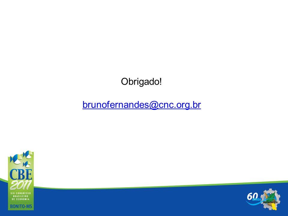 Obrigado! brunofernandes@cnc.org.br