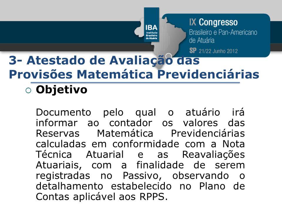 3- Atestado de Avaliação das Provisões Matemática Previdenciárias