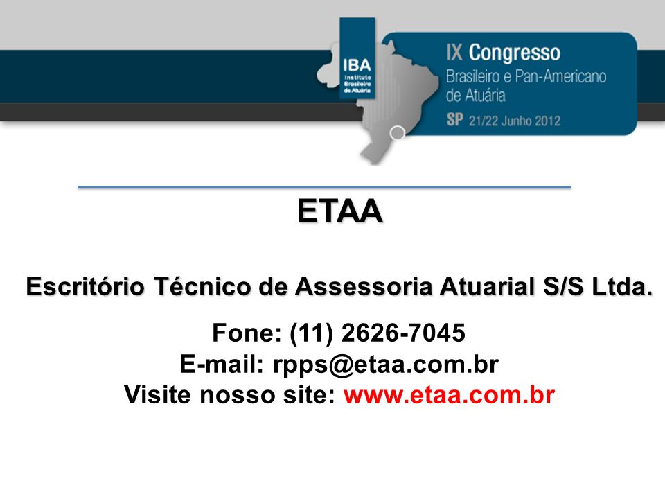 ETAA Escritório Técnico de Assessoria Atuarial S/S Ltda.