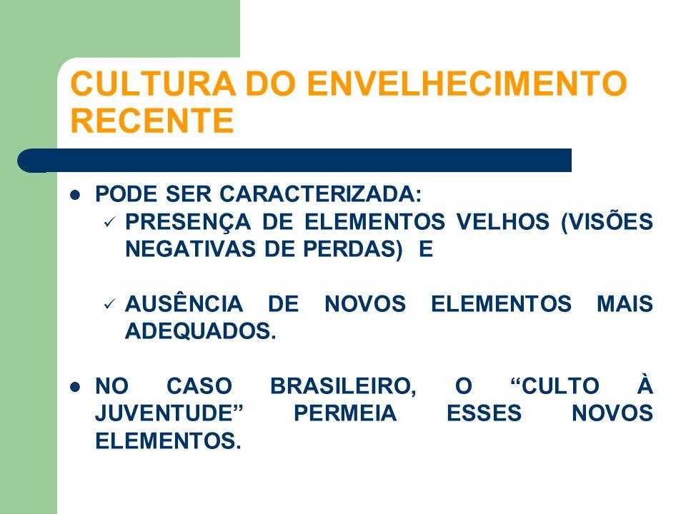 CULTURA DO ENVELHECIMENTO RECENTE