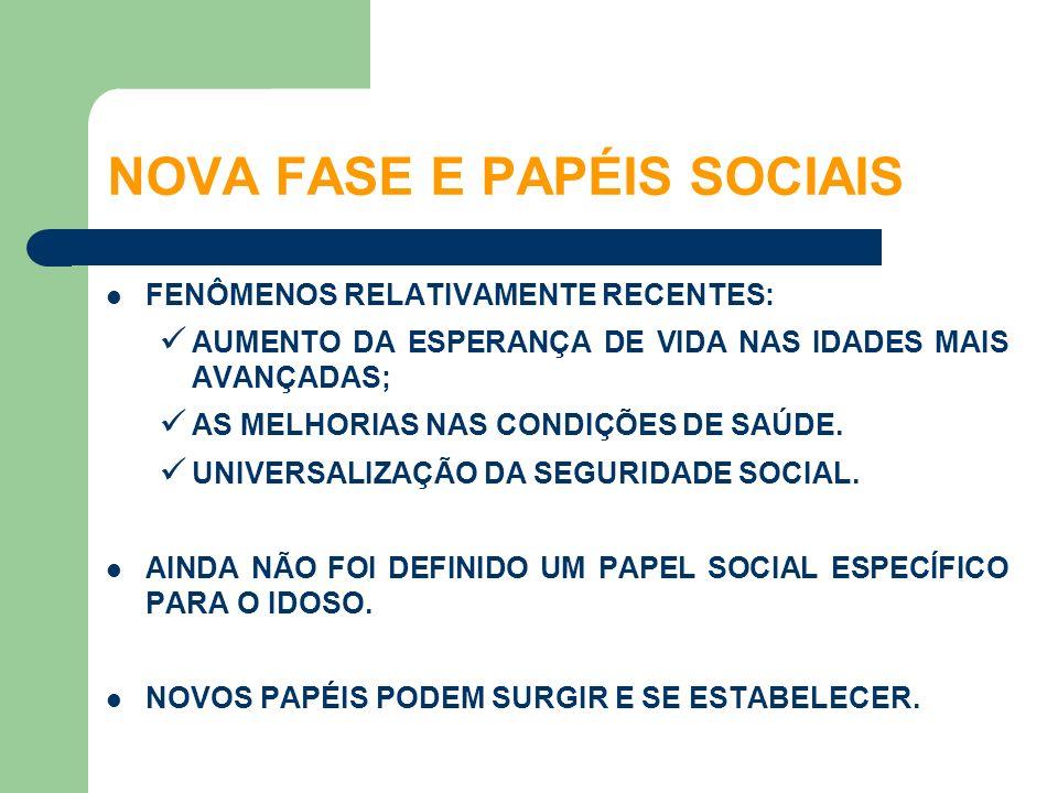 NOVA FASE E PAPÉIS SOCIAIS