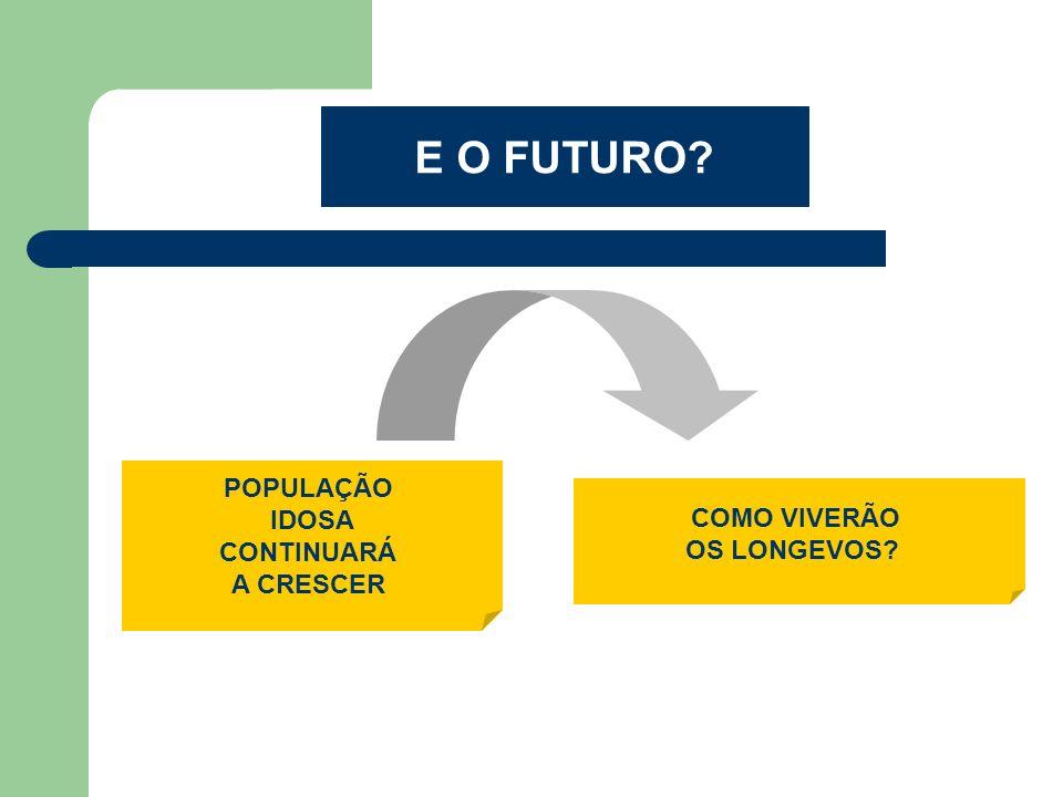 E O FUTURO POPULAÇÃO IDOSA COMO VIVERÃO CONTINUARÁ OS LONGEVOS
