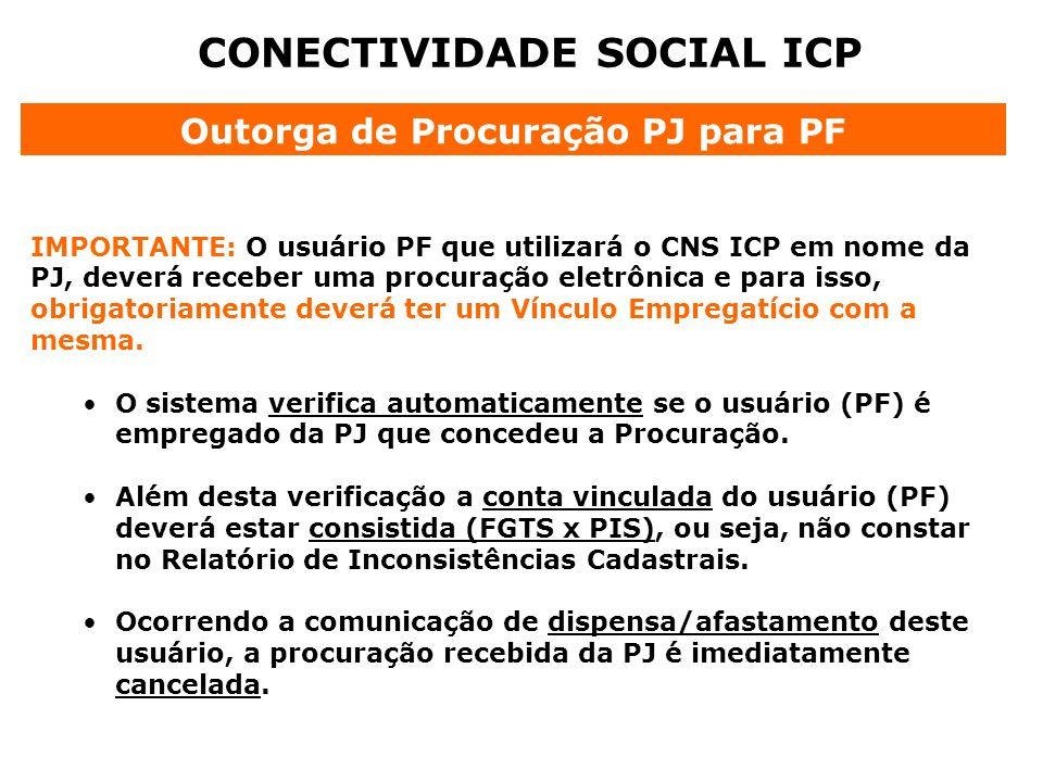 CONECTIVIDADE SOCIAL ICP Outorga de Procuração PJ para PF