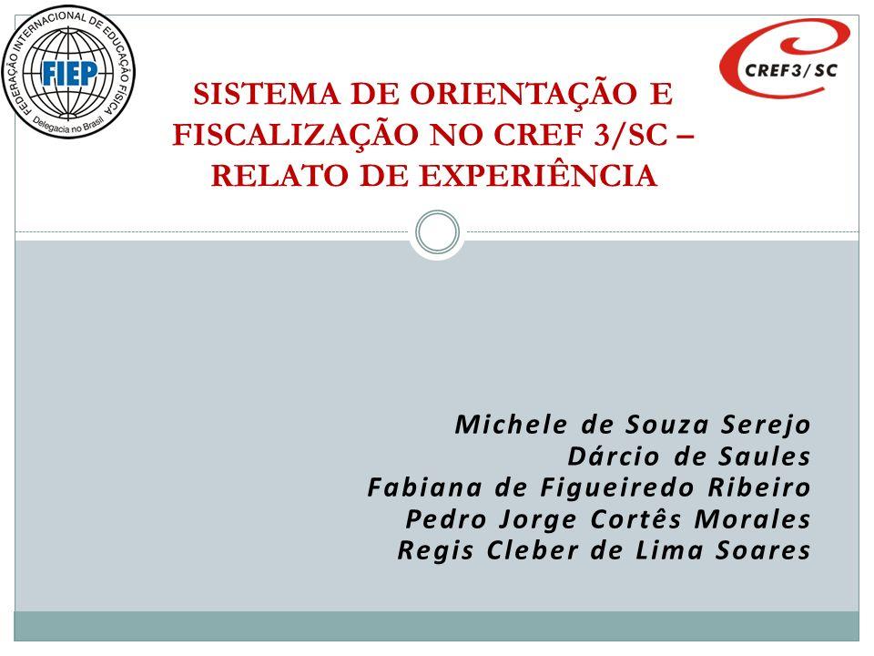 SISTEMA DE ORIENTAÇÃO E FISCALIZAÇÃO NO CREF 3/SC – RELATO DE EXPERIÊNCIA