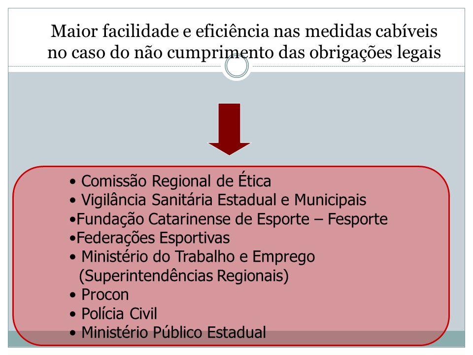 Maior facilidade e eficiência nas medidas cabíveis no caso do não cumprimento das obrigações legais