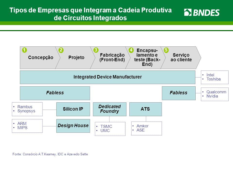 Tipos de Empresas que Integram a Cadeia Produtiva de Circuitos Integrados