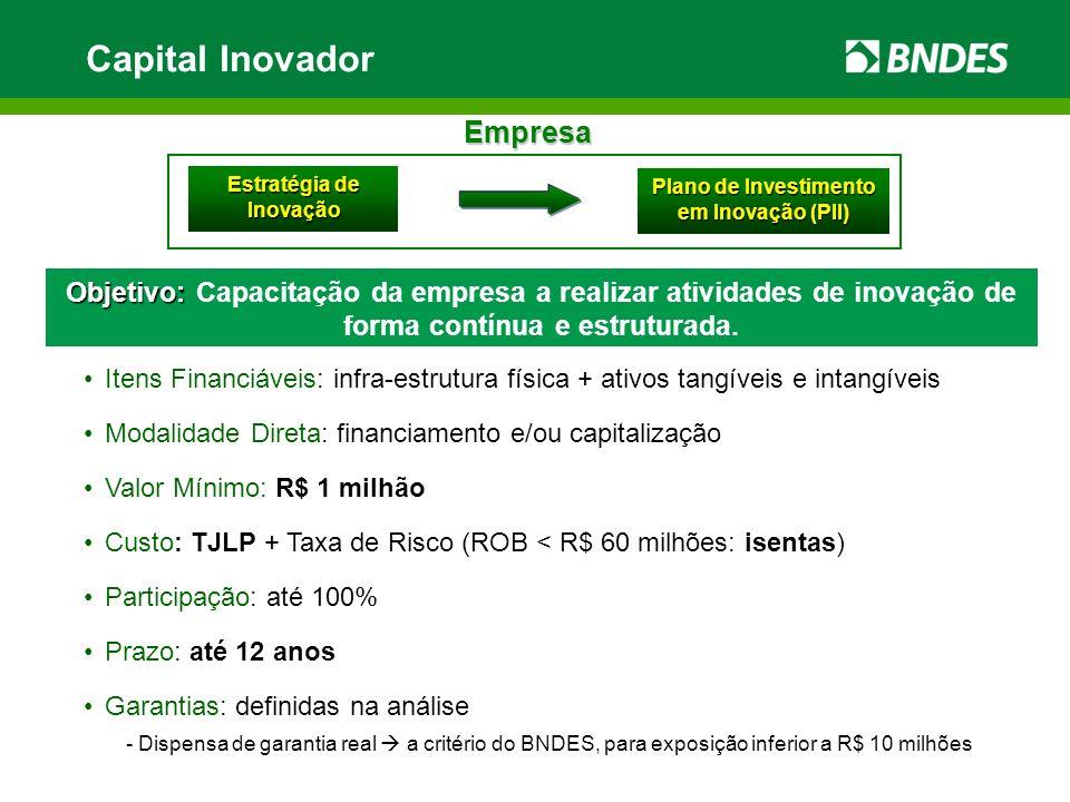 Estratégia de Inovação Plano de Investimento em Inovação (PII)