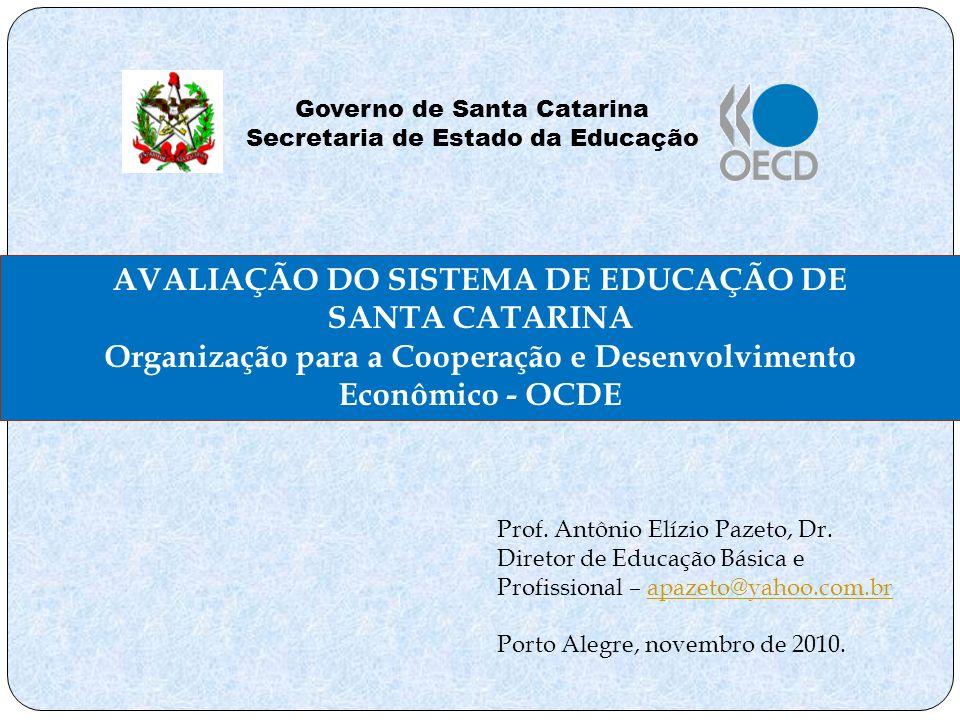 AVALIAÇÃO DO SISTEMA DE EDUCAÇÃO DE SANTA CATARINA