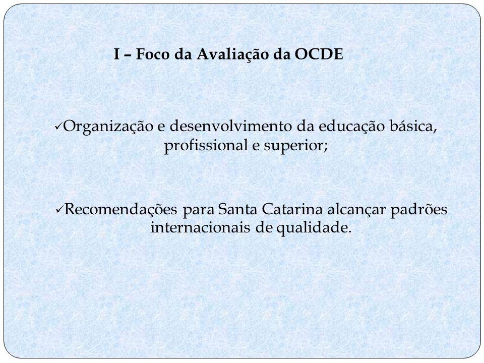I – Foco da Avaliação da OCDE