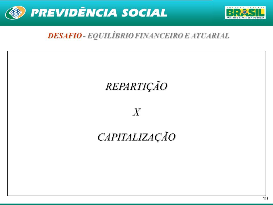 DESAFIO - EQUILÍBRIO FINANCEIRO E ATUARIAL