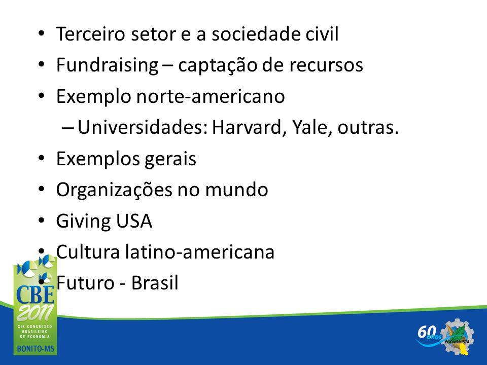 Terceiro setor e a sociedade civil