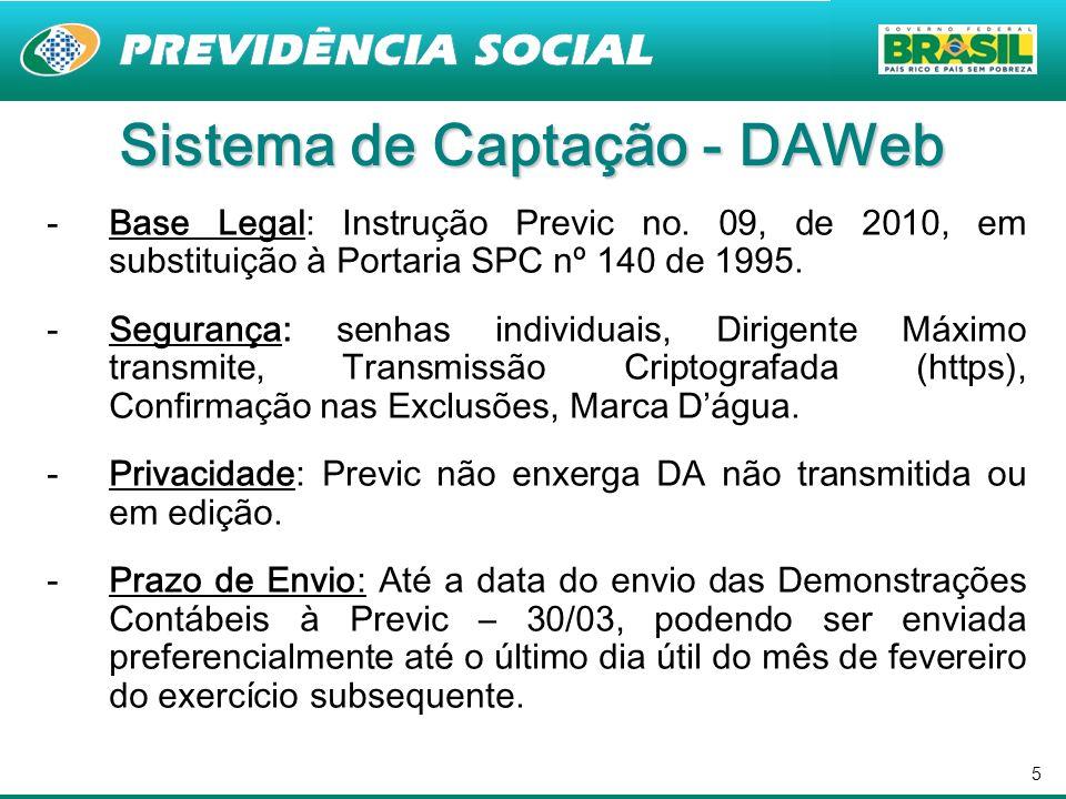 Sistema de Captação - DAWeb