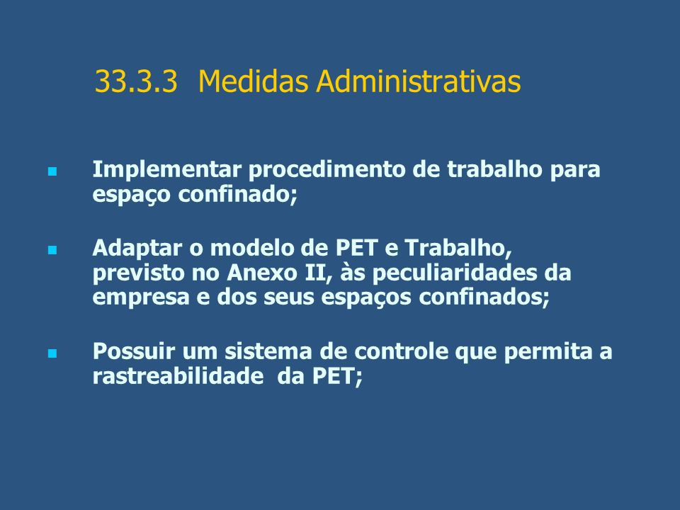 33.3.3 Medidas Administrativas