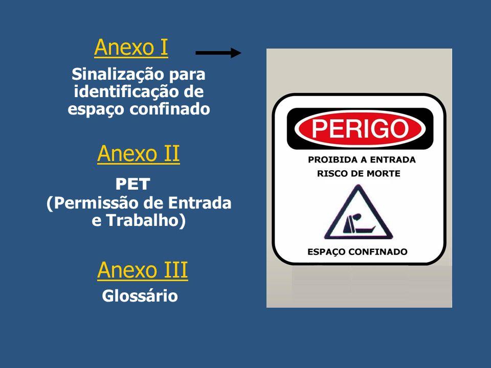 PET (Permissão de Entrada e Trabalho) Anexo III Glossário