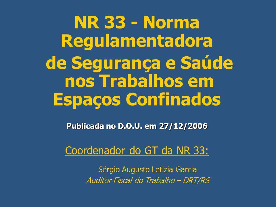 NR 33 - Norma Regulamentadora