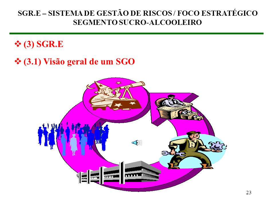 (3) SGR.E (3.1) Visão geral de um SGO