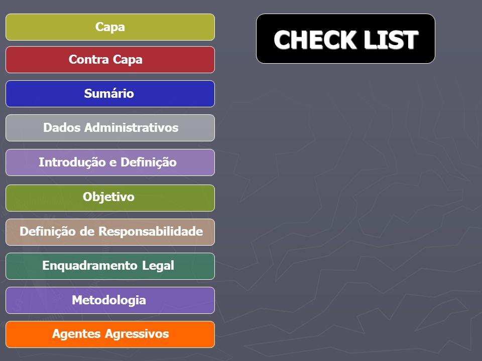 CHECK LIST Capa Contra Capa Sumário Dados Administrativos