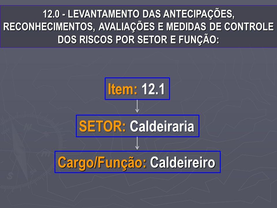 Cargo/Função: Caldeireiro