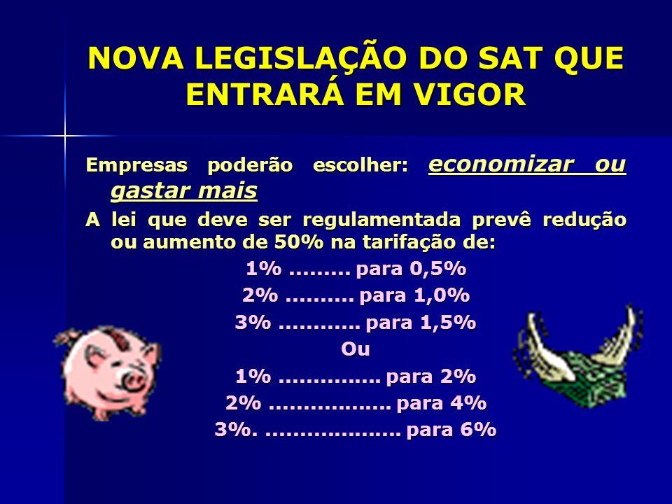 NOVA LEGISLAÇÃO DO SAT QUE ENTRARÁ EM VIGOR