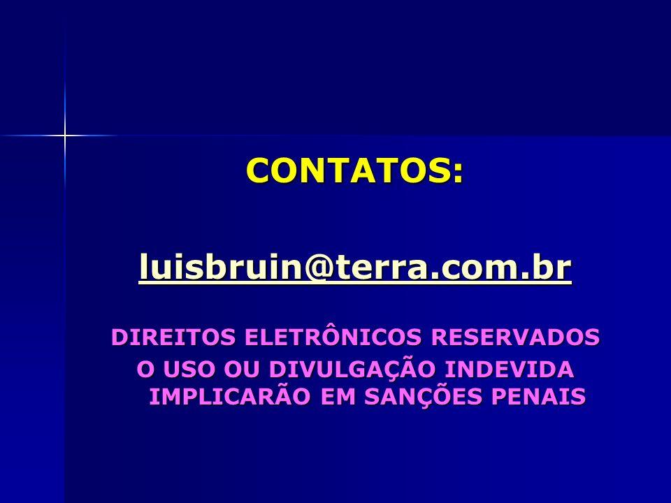 CONTATOS: luisbruin@terra.com.br