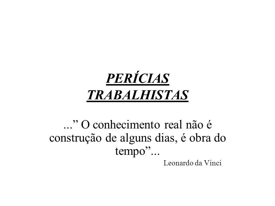 PERÍCIAS TRABALHISTAS
