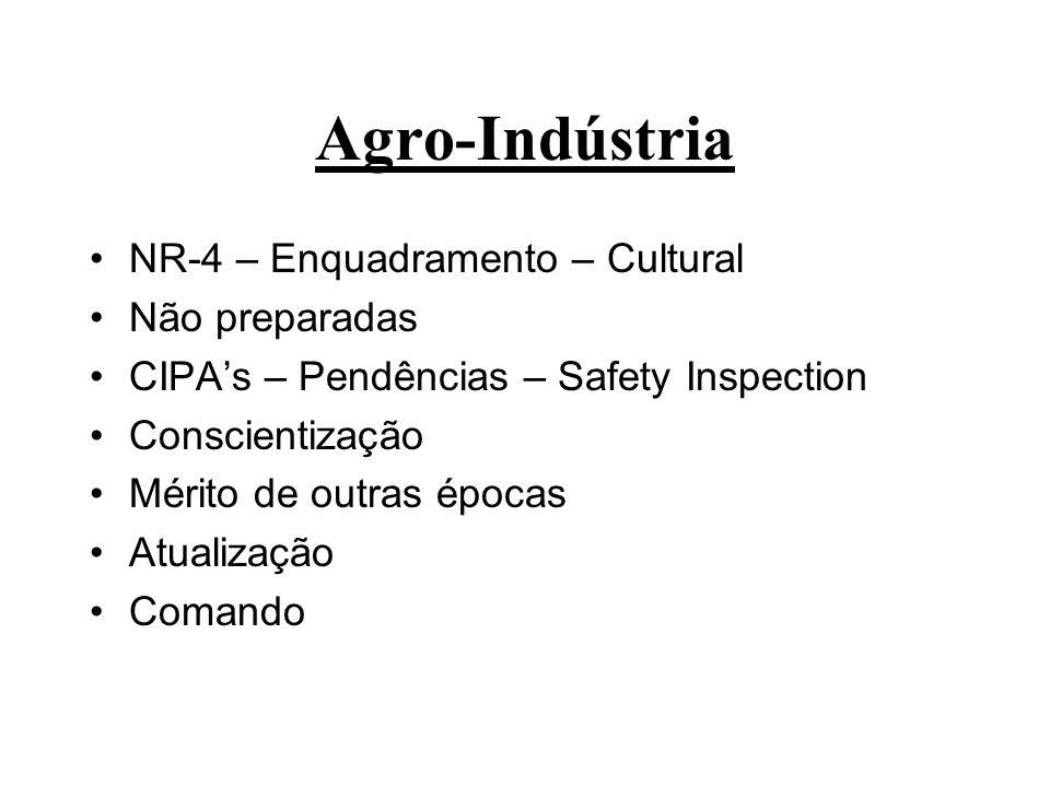 Agro-Indústria NR-4 – Enquadramento – Cultural Não preparadas