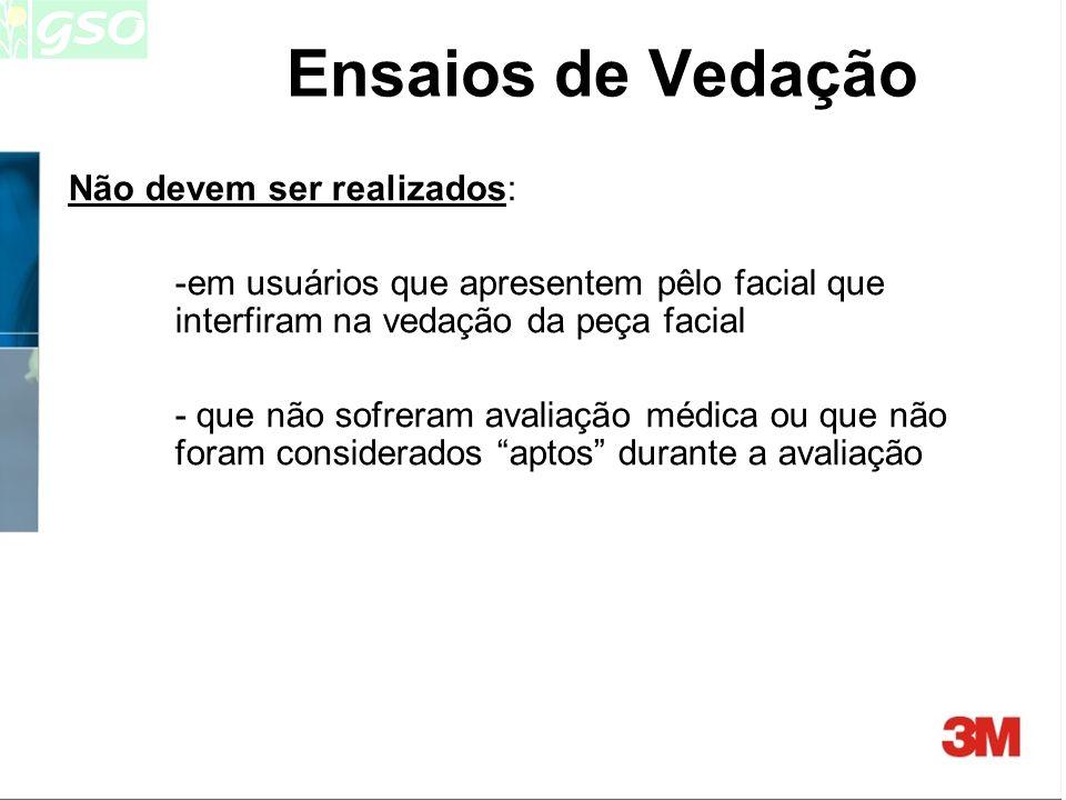 Ensaios de Vedação Não devem ser realizados: