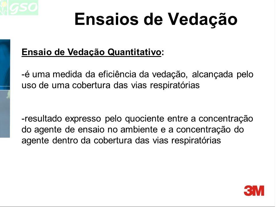 Ensaios de Vedação Ensaio de Vedação Quantitativo: