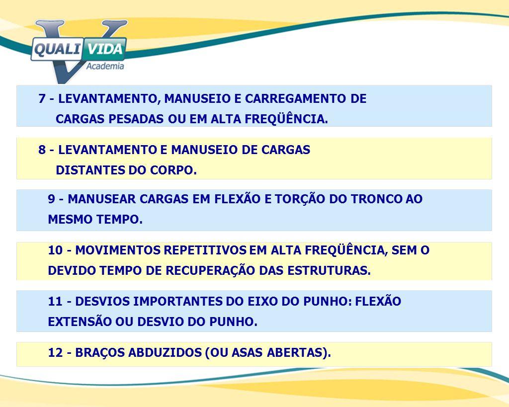 7 - LEVANTAMENTO, MANUSEIO E CARREGAMENTO DE