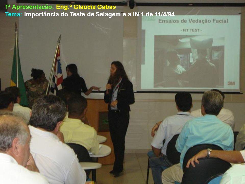 1ª Apresentação: Eng.ª Glaucia Gabas