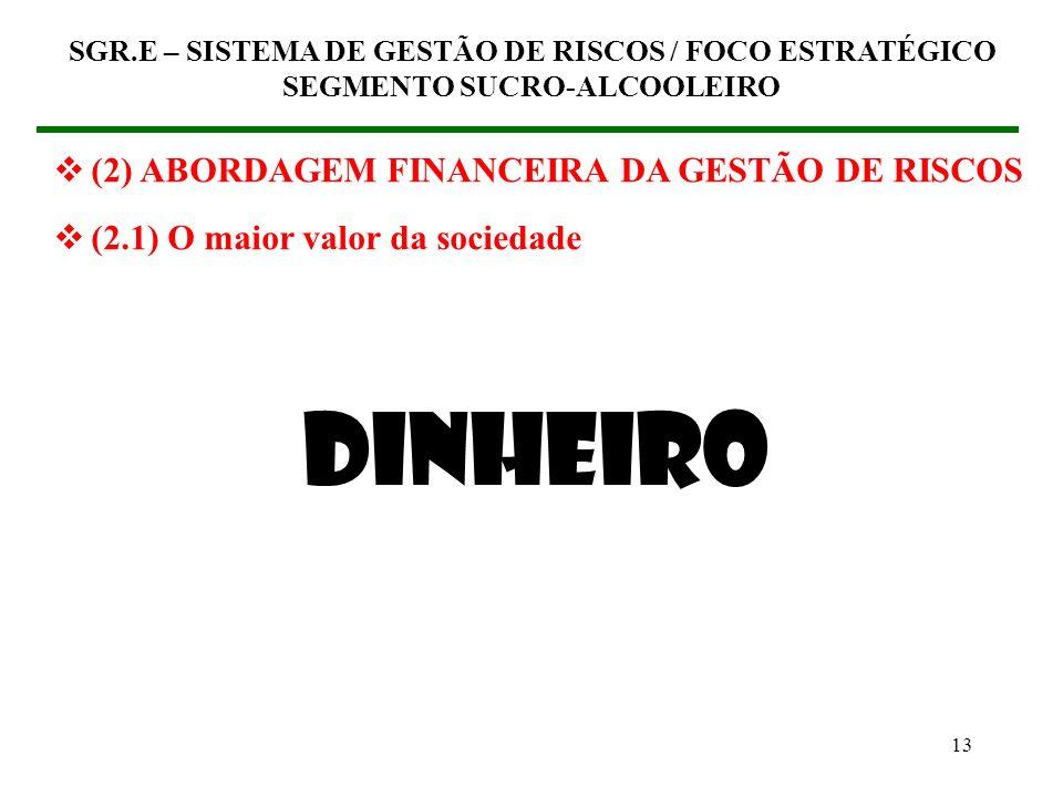 DINHEIRO (2) ABORDAGEM FINANCEIRA DA GESTÃO DE RISCOS