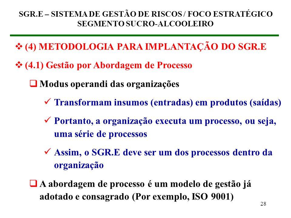 (4) METODOLOGIA PARA IMPLANTAÇÃO DO SGR.E