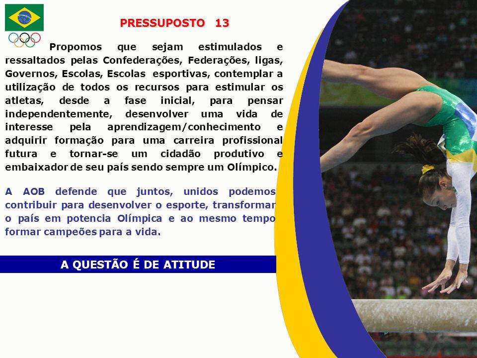 PRESSUPOSTO 13 A QUESTÃO É DE ATITUDE