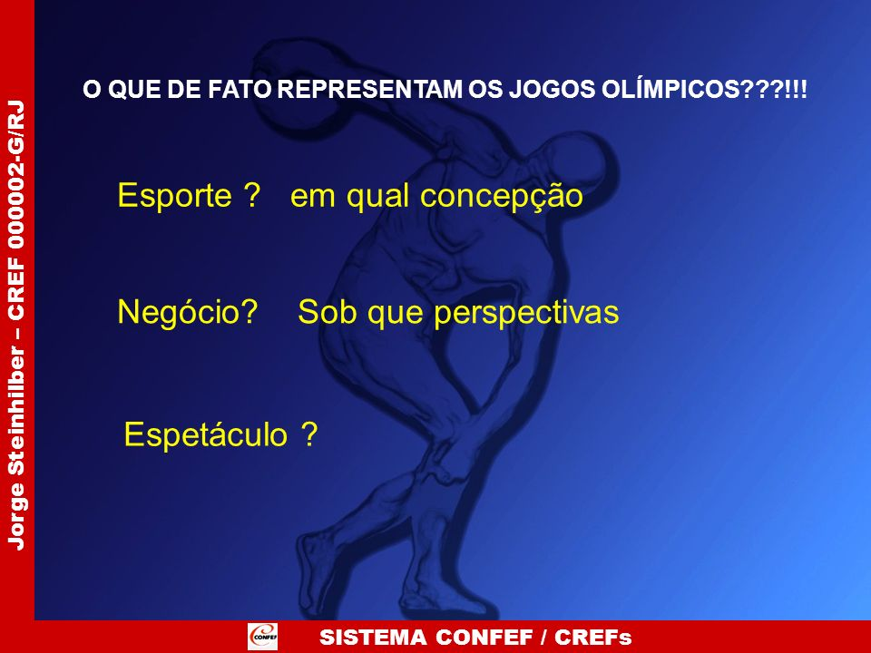 O QUE DE FATO REPRESENTAM OS JOGOS OLÍMPICOS !!!