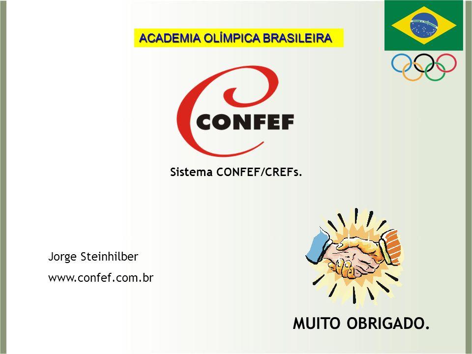 MUITO OBRIGADO. ACADEMIA OLÍMPICA BRASILEIRA Sistema CONFEF/CREFs.