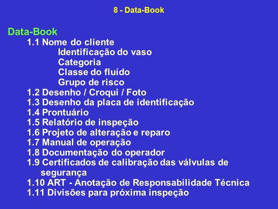 Data-Book 1.1 Nome do cliente Identificação do vaso Categoria