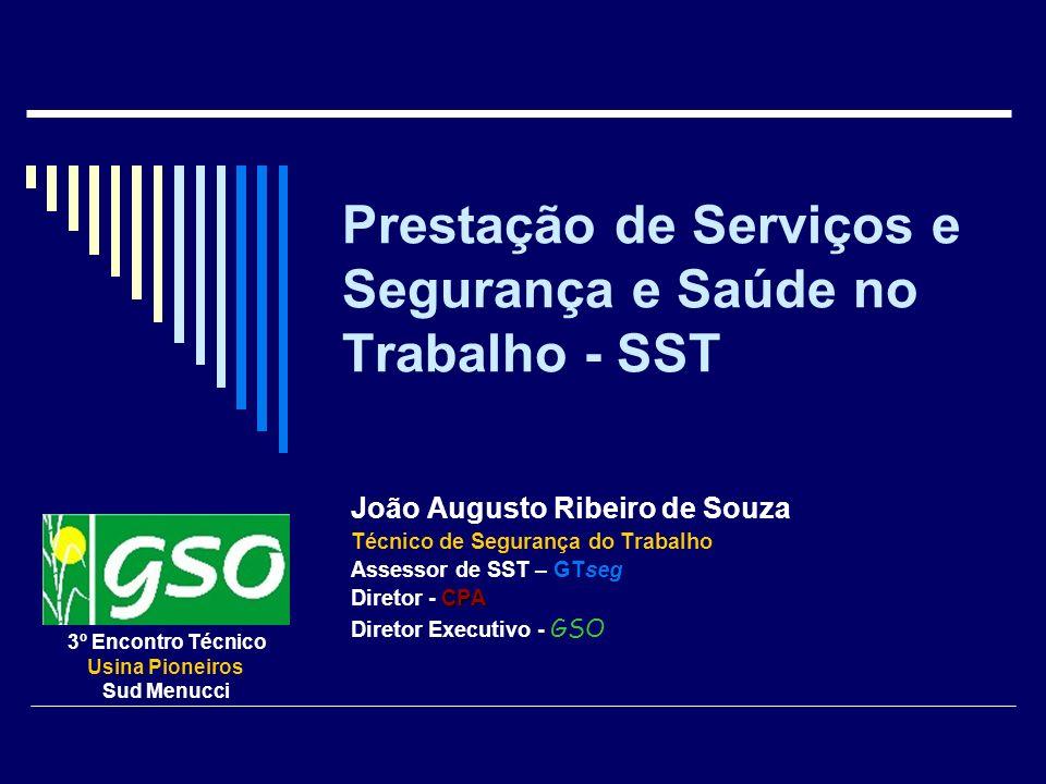 Prestação de Serviços e Segurança e Saúde no Trabalho - SST