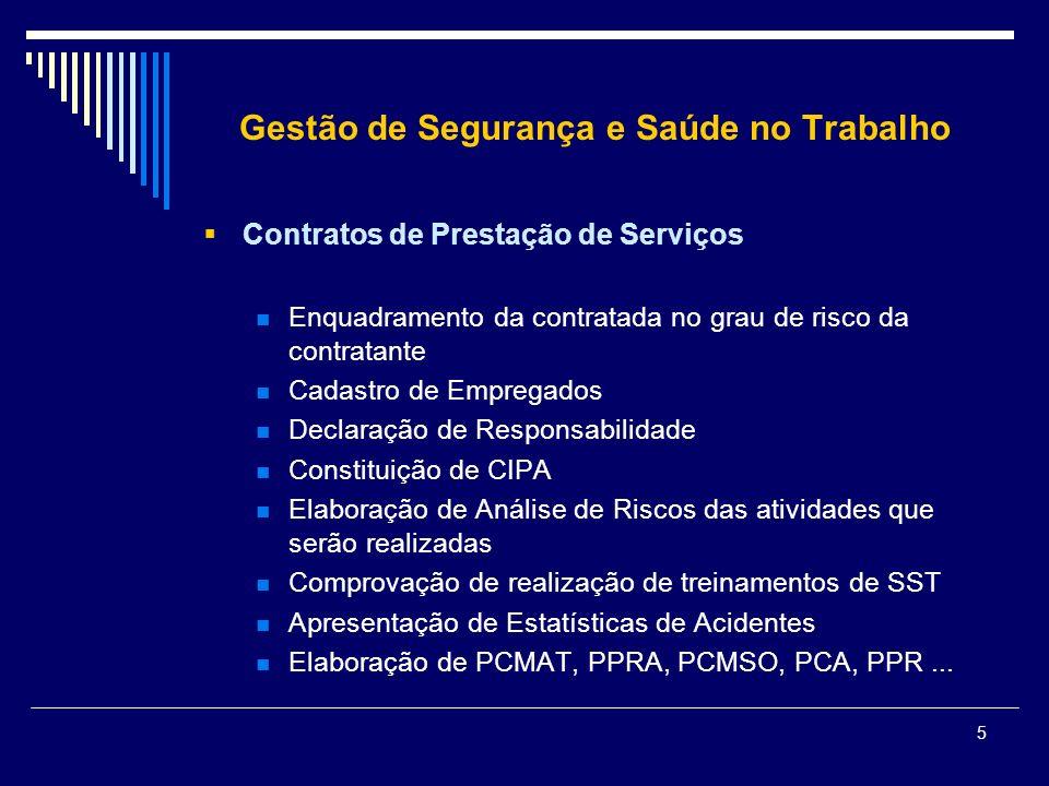 Gestão de Segurança e Saúde no Trabalho