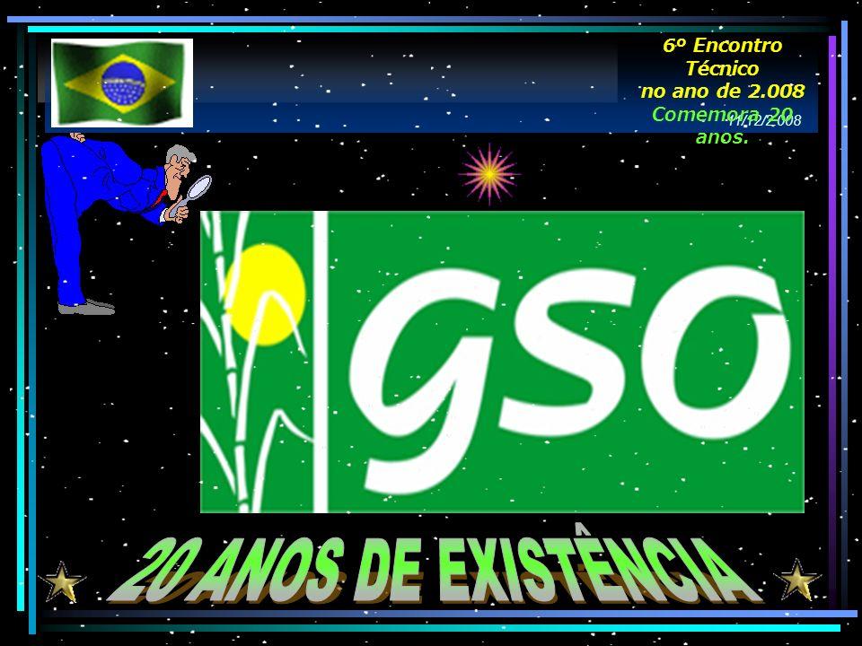 20 ANOS DE EXISTÊNCIA 6º Encontro Técnico no ano de 2.008