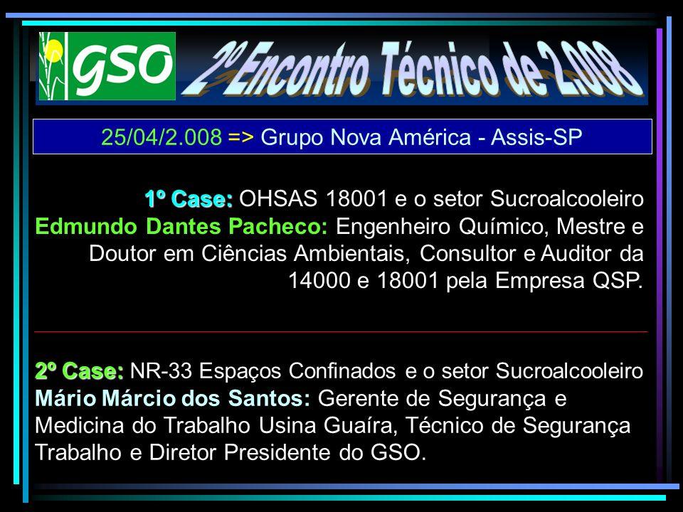 25/04/2.008 => Grupo Nova América - Assis-SP