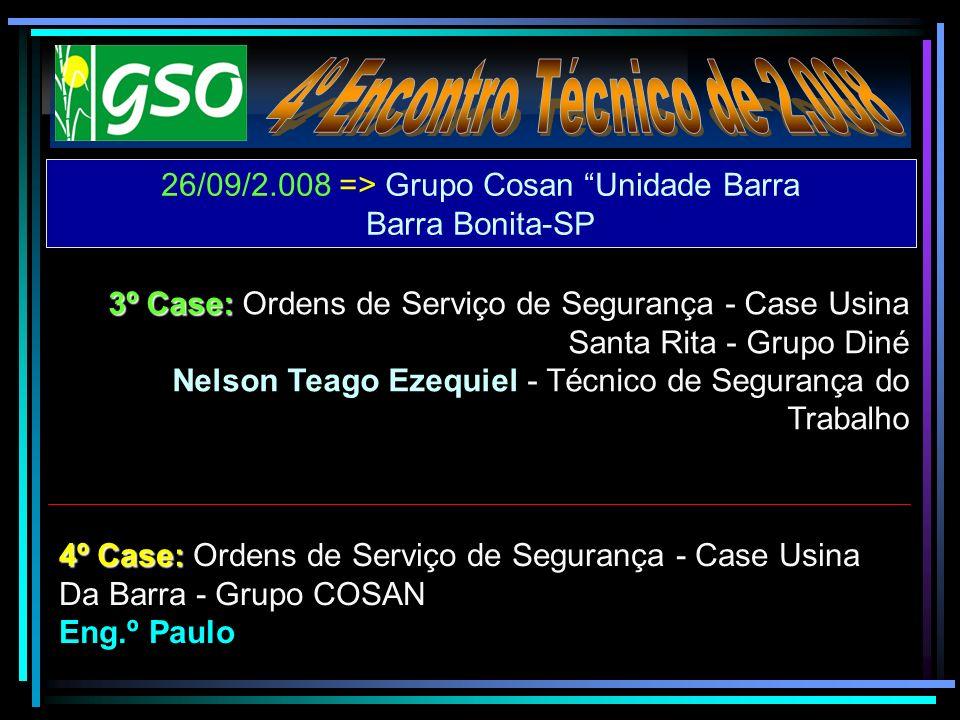 26/09/2.008 => Grupo Cosan Unidade Barra