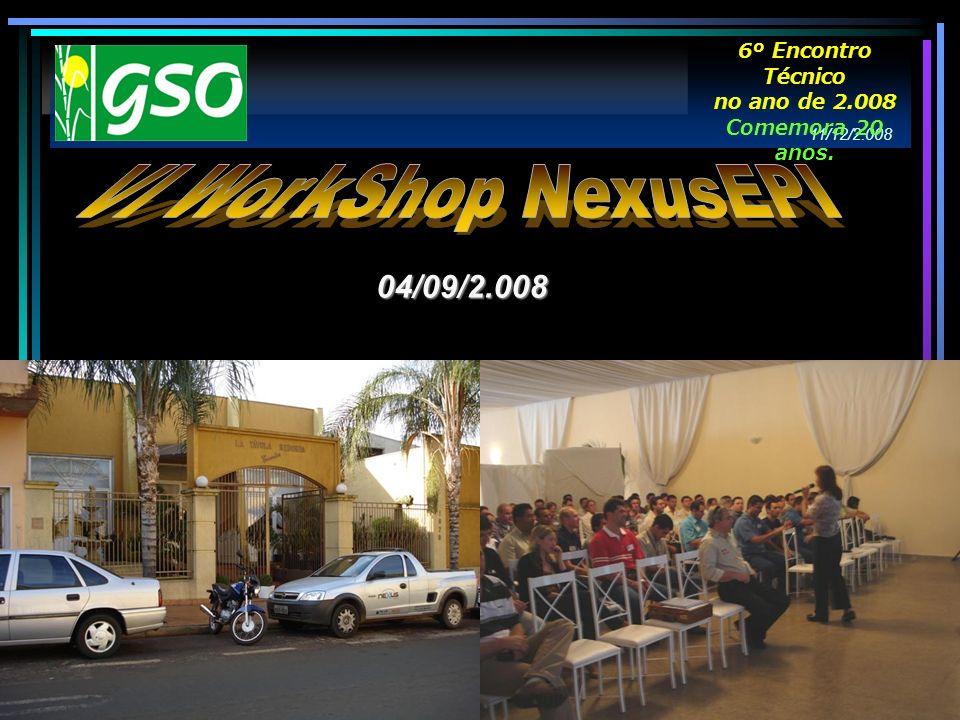 VI WorkShop NexusEPI 04/09/2.008 6º Encontro Técnico no ano de 2.008
