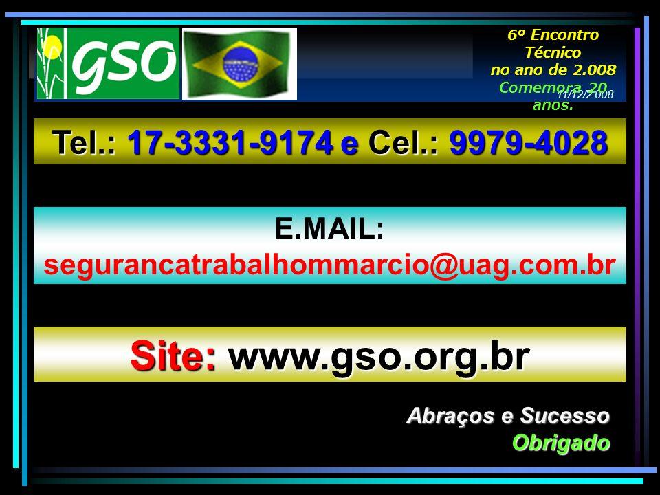 Site: www.gso.org.br Tel.: 17-3331-9174 e Cel.: 9979-4028 E.MAIL: