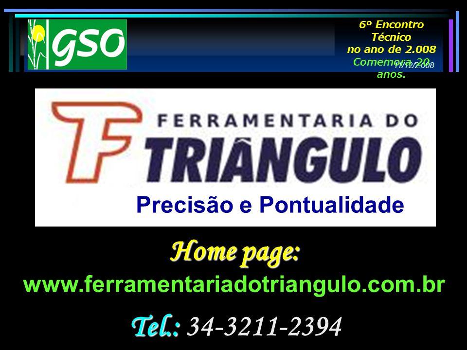 Home page: Tel.: 34-3211-2394 Precisão e Pontualidade