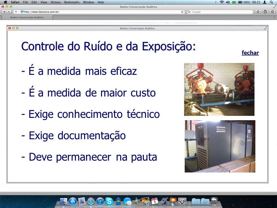 Controle do Ruído e da Exposição: