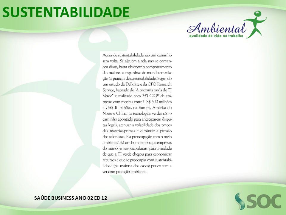 SUSTENTABILIDADE SAÚDE BUSINESS ANO 02 ED 12
