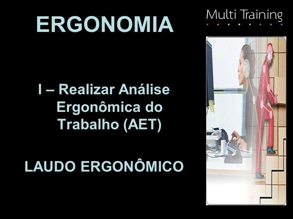 I – Realizar Análise Ergonômica do Trabalho (AET)