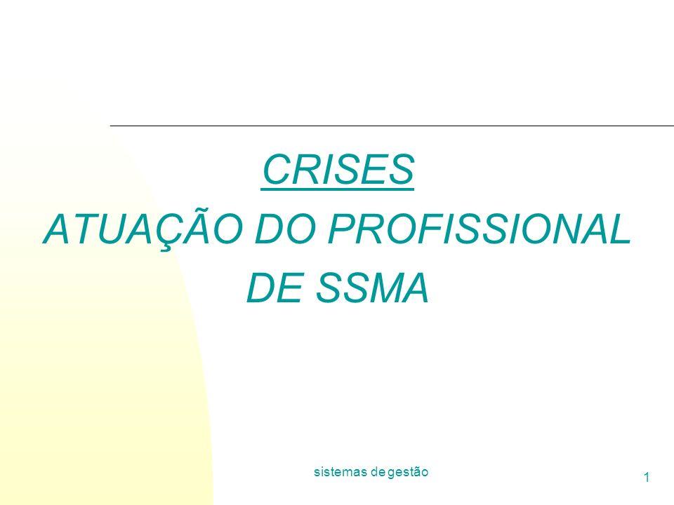 CRISES ATUAÇÃO DO PROFISSIONAL DE SSMA