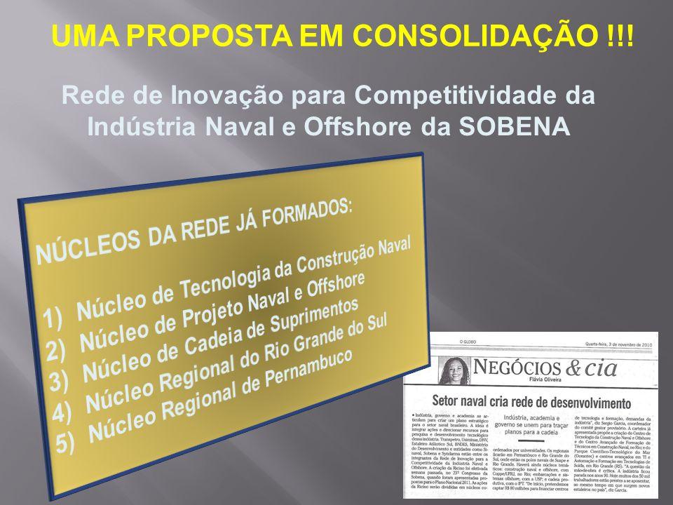 UMA PROPOSTA EM CONSOLIDAÇÃO !!!
