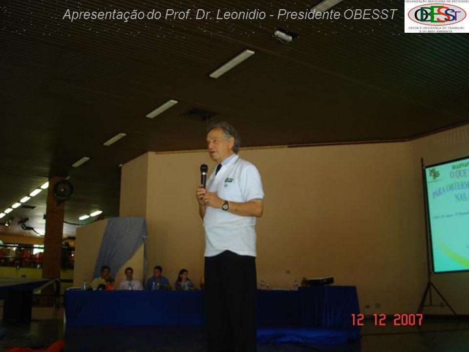 Apresentação do Prof. Dr. Leonidio - Presidente OBESST